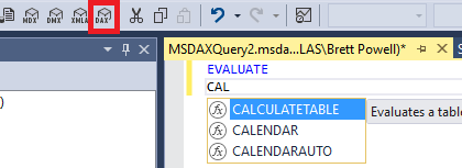 DAX Support in SSMS v17 0 | Insight Quest