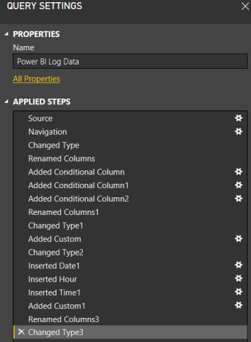 Power BI Log Data