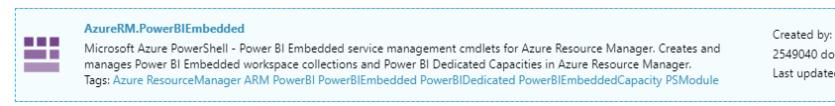 Azure RM Embedded Capacity
