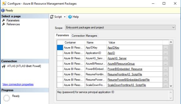 Azure BI Resource Management via SSIS and PowerShell